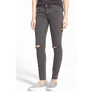 Articles of Society Gray Sarah Slit Skinny Jeans